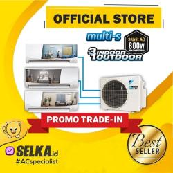 Daikin AC Multi S 3 Koneksi MKC50RVM4 (1/2PK + 1,5PK + 1,5PK) Inverter Putih