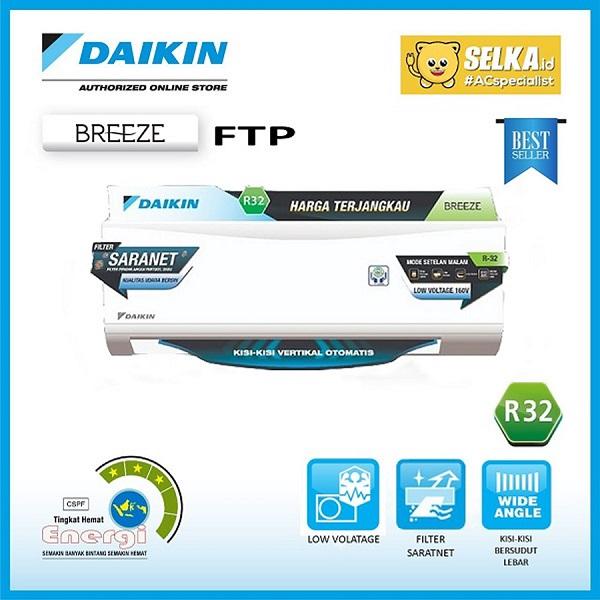 Daikin FTP15AV14 AC Split 1/2 PK Breeze Standard