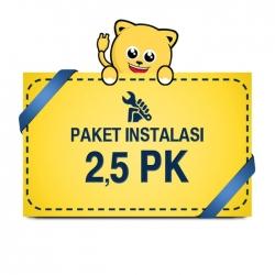 Paket Pasang AC 2,5 PK Pipa 1/4 1/2 5m BASIC