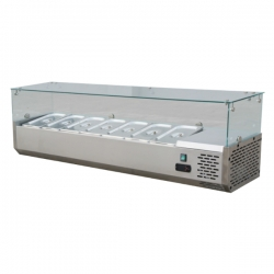 GEA STC-150 Stainless Steel Counter Top Salad Case 44 Liter - Silver
