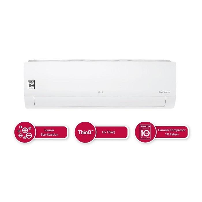 LG T06EV4 AC Split Inverter 1/2 PK Putih