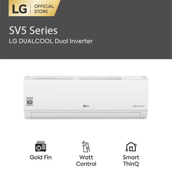 LG E13SV5 AC Split Plasma DUALCOOL with Watt Control-Smart 1,5 PK