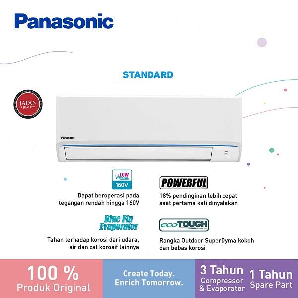 Panasonic CS-LN5WKJ si-BiRU AC Split 1/2 PK Standard - Putih