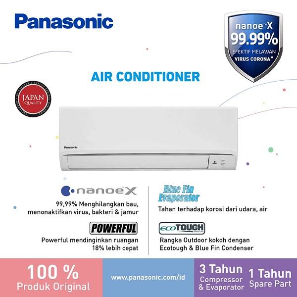 Panasonic CS-PN9WKJ AC Split 1PK Standard Putih